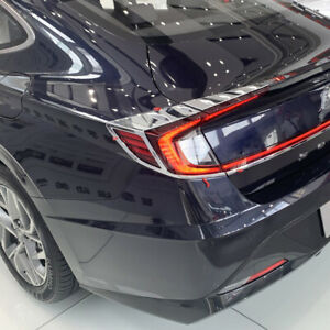 For Hyundai Sonata 2020 2021 Plastic Rear Tail Light Lamp Taillight Cover Trim