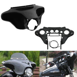 HTTMT HL1584-49 Outer ABS Batwing Upper Front Fairing Cowl Compatible with Harley Road Glide 1998-2013 FLTR
