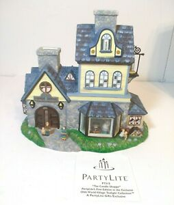 PartyLite Exclusive Candle Shoppe Tealight House With Orginal Box