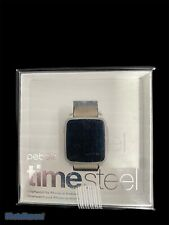 Pebble Time Steel Smartwatch for Apple/Android Devices - Silver 511-00023 - Used