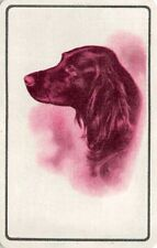 Dog Head Single Swap Playing Card Vintage Blank Back