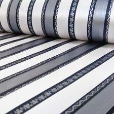 AS Creation Floral Stripe Pattern Wallpaper Textured Silver Metallic Roll 310415