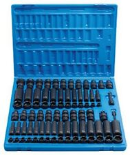 "81 Pc. 3/8"" Drive 6 Point Standard and Deep Master Socket Set GRY-1281 New!"