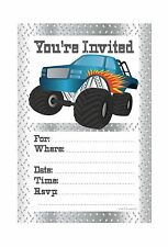 Monster Truck Birthday Party Invitations - Fill In Style (20 Co... Free Shipping