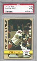 1972 Topps hockey card #130 Jean Ratelle, New York Rangers graded PSA 9 MINT
