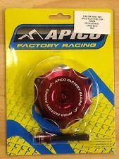 HONDA  CR  500  1989-2001  APICO ALLOY FUEL PETROL CAP & VENT PIPE RED