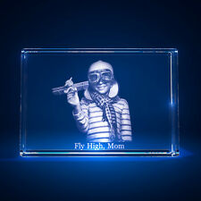 3D Laser Crystal Glass Personalized Etched Engrave Stand Freestyle Landscape S