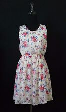 Forever 21 Dress Women's sleeveless floral mini lace back Junior size S tunic