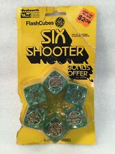 Vintage GE Flash Cubes Six Shooter Pack from Woolworth NOS Rare