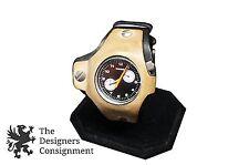 Diesel DZ-7040 Stainless Steel Vintage Mens Ladys Wrist Watch Leather Band Steam