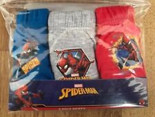 Boys Spiderman 3 Pack Pants Underpants Briefs Age 7-8 years Cotton FREEPOST