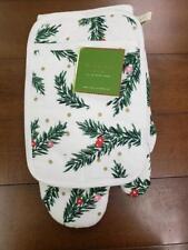New listing Nwt Kate Spade Ny Pine Needles 3-Pc Kitchen Set Oven & Pot Mitts Towel Christmas