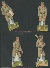 1888 McLoughlin Brothers Boston Beaneaters Complete Set of 10 Die Cuts