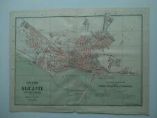 1913 MAPA Ciudad de Alicante Benito Chias y Carbo (Spain Map España)