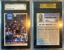 Rare NON-Perforated 1990-91 Big Blue Shaquille O'Neal Rookie SGC 96 Mint 9 psa