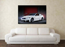 2017 BMW M4 - 30x20 Inch Canvas Wall Art - Framed Picture Print