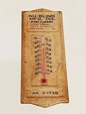 reproduction of vintage advertising Thermometer Nu Blind Manufacturing company
