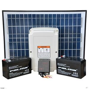 24V Solarset  Solarmodul Laderegler Solarpanel Set Torantriebe geeignet