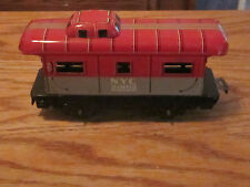 NYC 20102 Marx train caboose car railroad working tin working wheels vtg toy