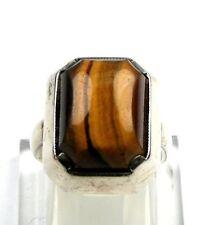 Tigerauge-Ring  925er Silber Gr. 53/16,8 mm 6,30 Gramm !!!