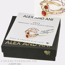 Authentic Alex and Ani July 14kt GP Birth Month Ring