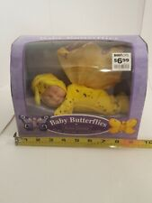 2001 Anne Geddes Baby Butterflies Bean Filled Collection Yellow & Purple #526971