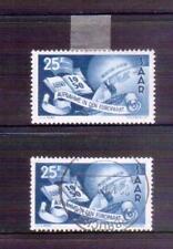 SAAR Germany 1950 Europa 25f MLH & used