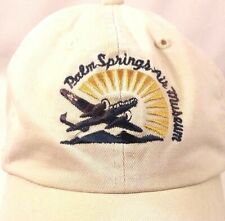 Vintage Palm Springs Air Museum Hat Adjustable Strapback Airplane Pilot 11.18