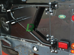 LAND ROVER DEFENDER SWING AWAY SPARE WHEEL CARRIER REAR 90 110 SERIES TAILGATE