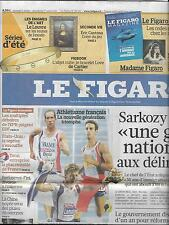 LE FIGARO N°20527 01/08/2010  ATHLETISME/ LEMAITRE/ CANTONA/ NUCLEAIRE/ TIBET