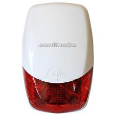 WIRELESS HEAVY DUTY LOUD WEATHERPROOF EXTERNAL OUTDOOR FLASH LED STROBE BELL BOX