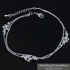 Silver Anklet Foot Jewelry Chain Beach Fashion Ankle Bracelet Women 925 Sterling