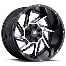 "20"" Inch Vision 422 Prowler 20x12 6x5.5"" -51mm Black/Machined Wheel Rim"