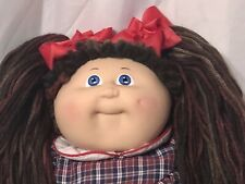 1984 Cabbage Patch Doll. Variegated Reroot, Ic Body Tag,Hm #3 Blue Eyes