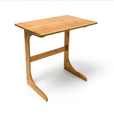 Laptoptafel / bijzettafel bamboe hout - Houten bijzet tafel laptop - 62,5x60x40.