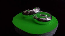 Sterling silver 925, hoop earrings, from Taxco Guerrero Mexico, 3cm diameter 1cm