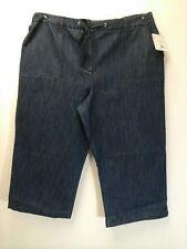 Covington Women's Blue Lightweight Denim Drawstring Capri Pants Size 16