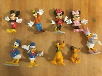 Mixed Lot of 9 Disney Character Toy Figures Mickey Minnie Goofy Donald Pluto