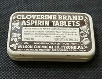 Vintage Medicine Tin: CLOVERINE BRAND Aspirin Tablets, Empty