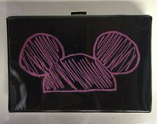 Disney Mickey Mouse Black and Pink Clutch
