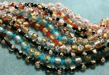 "!6"" Strand Gold Foil-Lined Venetian-Style 9mm Lampwork Beads - 20 Beads!"