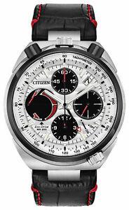 *BRAND NEW* Citizen Men's Eco-Drive Chrono Tsuno Racer Leather Watch AV0071-03A