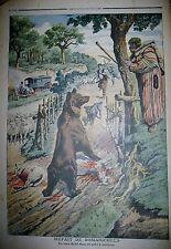OURS PARC A MOUTONS PAYSANS ROMANICHELS NOMADES ROULOTTE LE PETIT JOURNAL 1907