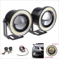 "2.5"" Car Headlight Bulb Projector Halo Ring CREE LED Angle Eyes Fog DRL Light"