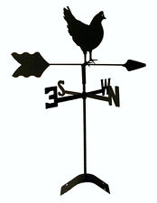 hen chicken roof mounted weathervane black wrought iron look made in usa TLS1025