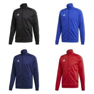 Adidas Core Boys Jackets Zip Training Track Top Jacket Kids Football Jumper