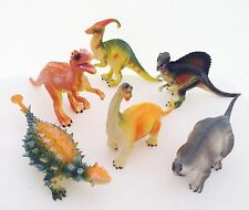 Large Bag of 6 Jurassic Dinosaurs Diplodocus Kids Plastic Animal Figure Toys New