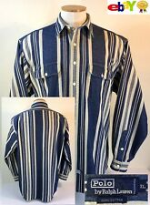 VTG Polo by Ralph Lauren Long Sleeve Button Front Shirt Denim Mens XL (C618)