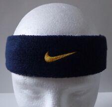 Nike HeadBand Sports Swoosh Mens Womens College Navy / University Gold