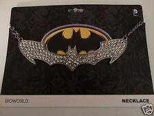 Batman Bling Bat Symbol Dc Comics Choker Necklace Nwt